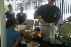 Chef-Jake-Tara-Taylor-Grilled-Pizza-Station-@-Graduation-Party-a-guest-Home